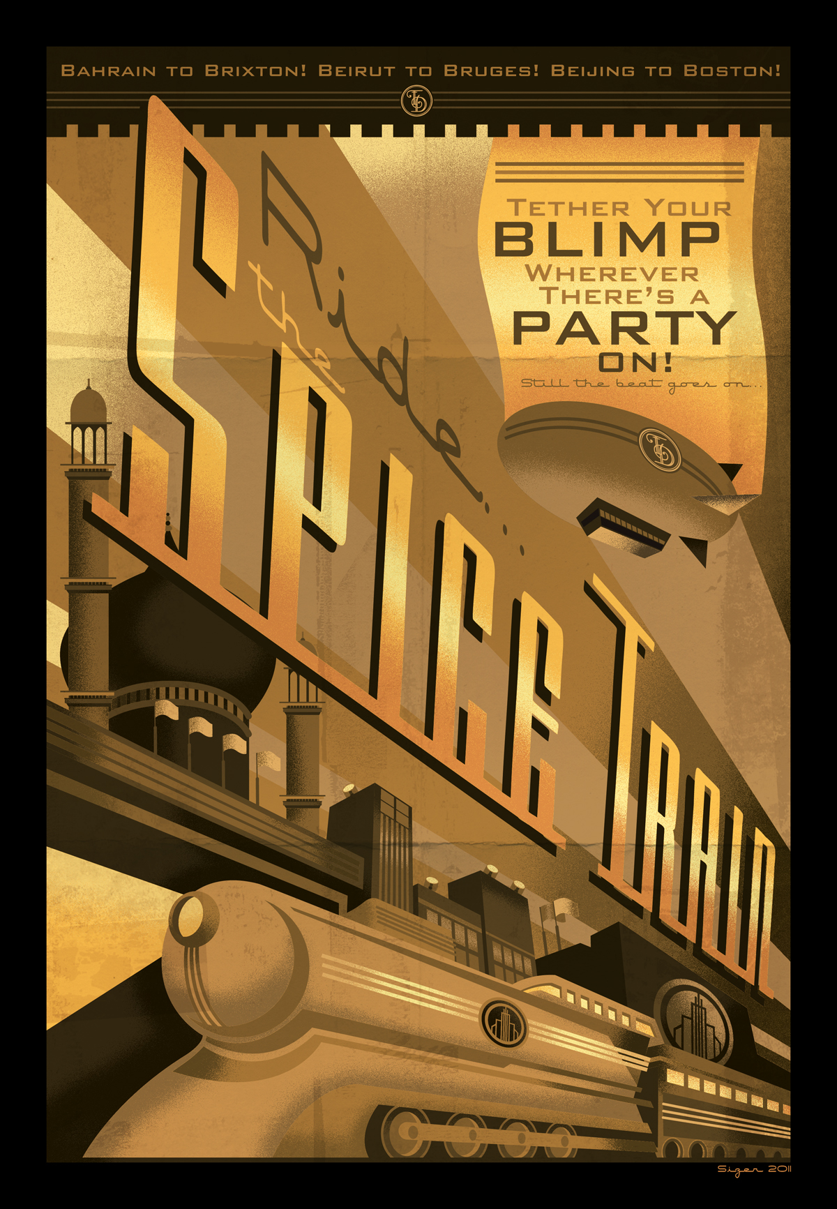 Thomas Dolby SPICE TRAIN poster