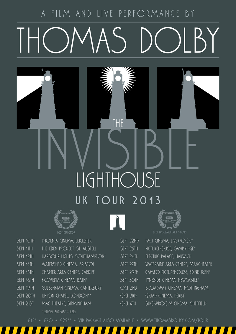 Thomas Dolby INVISIBLE LIGHTHOUSE UK Poster