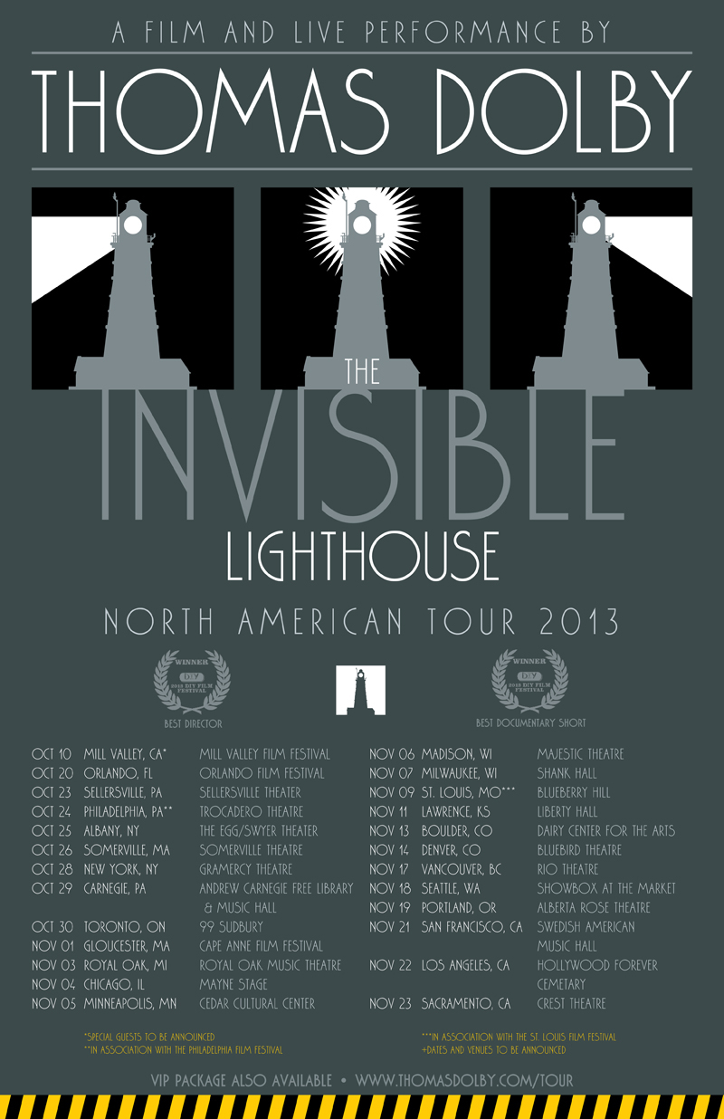 Thomas Dolby INVISIBLE LIGHTHOUSE US Poster