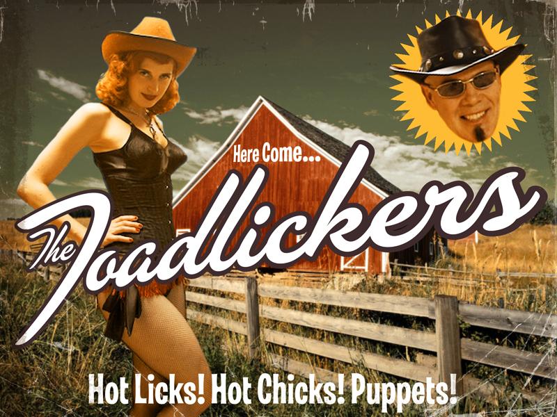 Thomas Dolby Toadlickers promo postcard