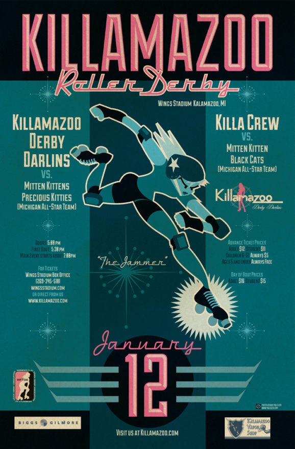 Killamazoo Roller Derby Posters (Set 2)