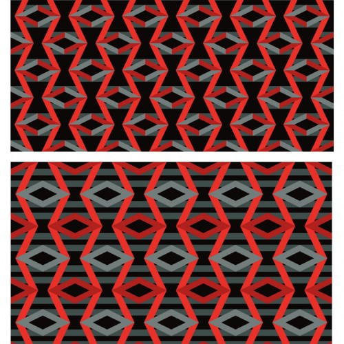 Zazios Proposed Logo Fabric Pattern Red