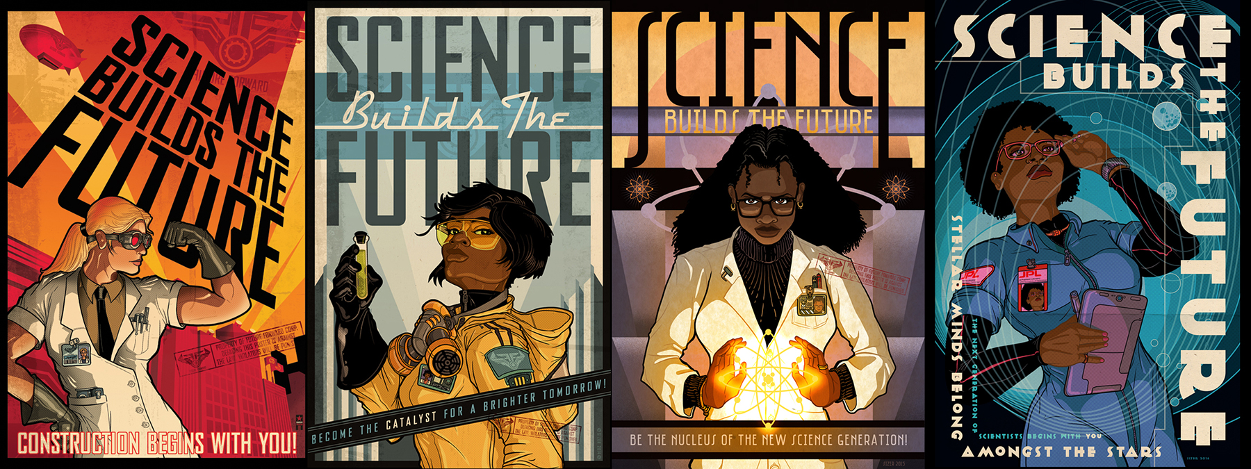 Science Builds The Future Poster Set