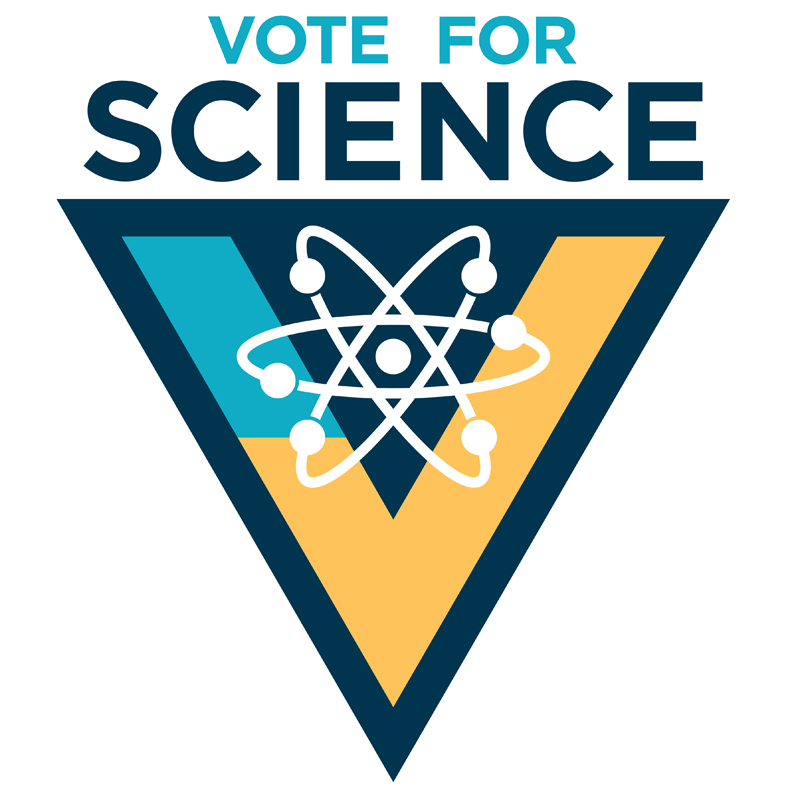Vote For Science Logo